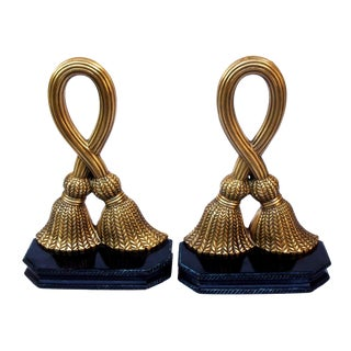 Brass Tassels Bookends - a Pair