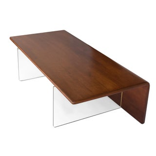 Rare Gerald McCabe Vintage Waterfall Coffee Table