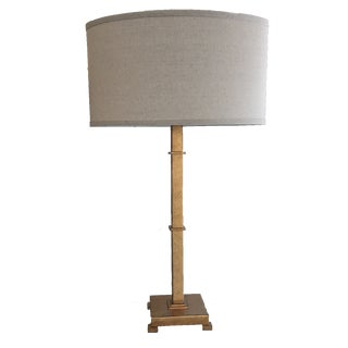 Antique Gold Modern Pedestal Table Lamp