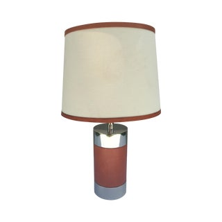 Ralph Lauren Home Chrome & Leather Accent Lamp