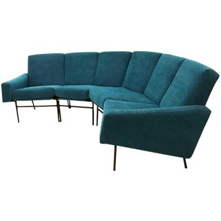 Pierre Guariche Curved Sectional Sofa, Model G10 Edited by Airborne, France 1954