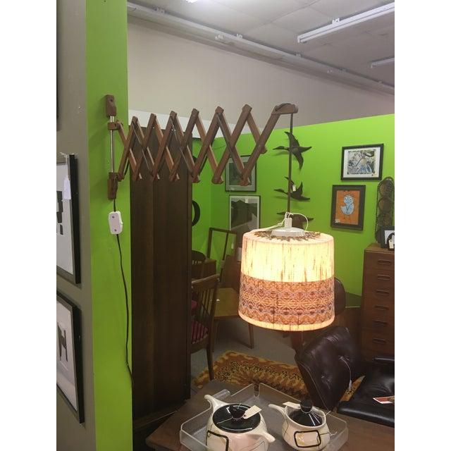 Vintage Teak Swing Arm Scissor Lamp - Image 2 of 5