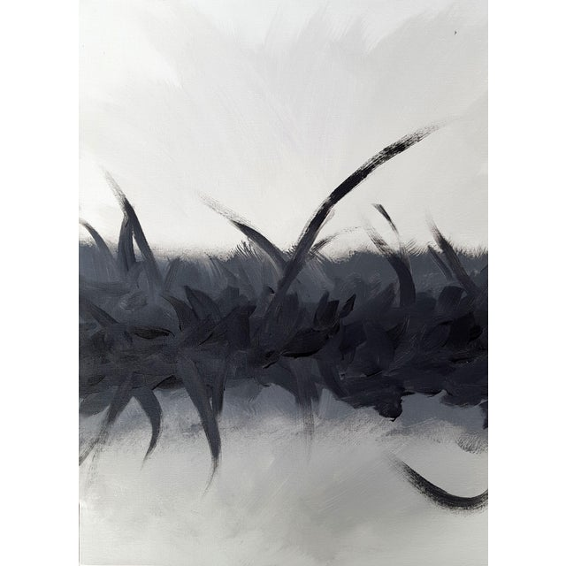 "Image of ""Bliss in Black"" Modern Expressive Abstract Art Painting"