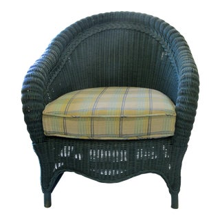 Vintage Wicker Chair & Cushion