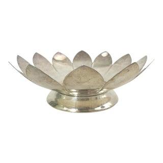 Vintage Leonard Silver Plate Lotus Flower Dish