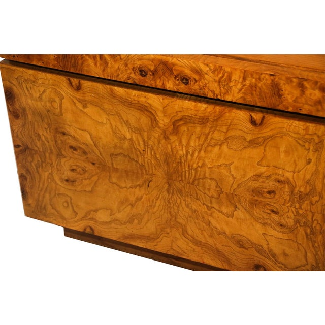 Milo Baughman For Lane Olive Burlwood Nightstands - A Pair - Image 5 of 10