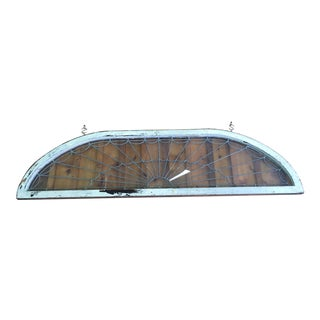 Arched Lead Glass Window