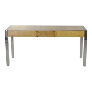 Pace Collection Burl Wood Console Table