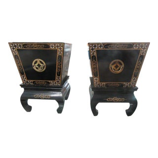 Japanese Ming Planters - A Pair