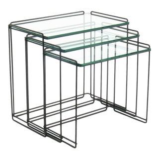 "Max Sauze Minimalist ""Isocele"" Nesting Tables - Set of 3"