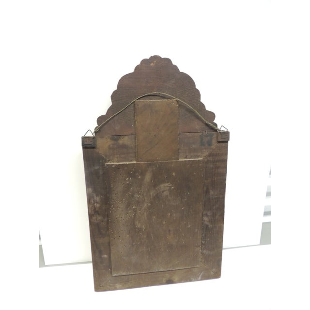 Antique Repose Brass Vanity Reliquary with Mirrored Door and Coat Brushes - Image 6 of 8