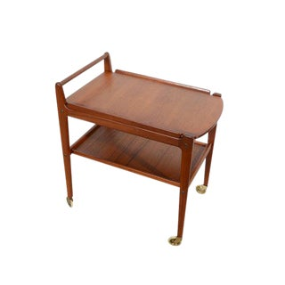 Erik Gustafssons Danish Modern Teak Cocktail Cart