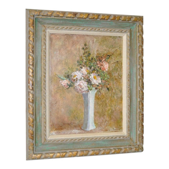 Troy Ruddick Vintage Floral Still Life Painting, C.1965 - Image 1 of 7