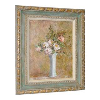 Troy Ruddick Vintage Floral Still Life Painting, C.1965