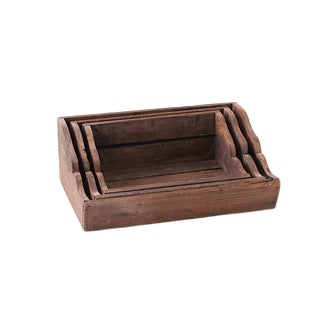 Wooden Nesting Shelves - Set of 3