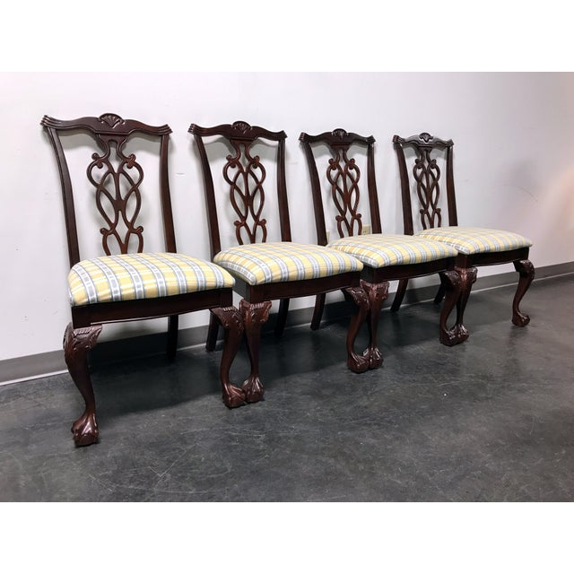 Lexington Chippendale Mahogany Ball Claw Dining Chairs- Set of 4 - Image 3 of 11