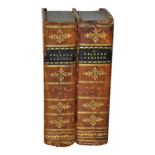 """Circa 1823 Ludovico Ariosto """"L' Orlando Furioso"""" Vol 1 & 2"""
