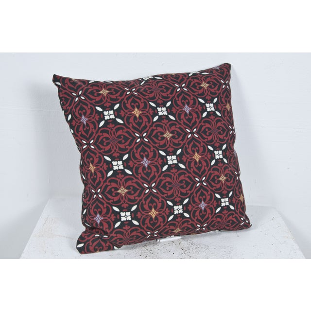 Red Outdoor Throw Pillow - Image 2 of 3