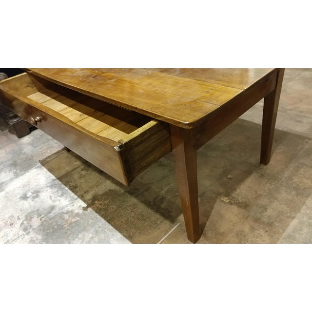 19th Century French Farm Walnut Coffee Table - Image 4 of 10