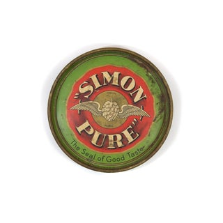 """1940s """"Simon Pure Brewery"""" Beer Tray"""