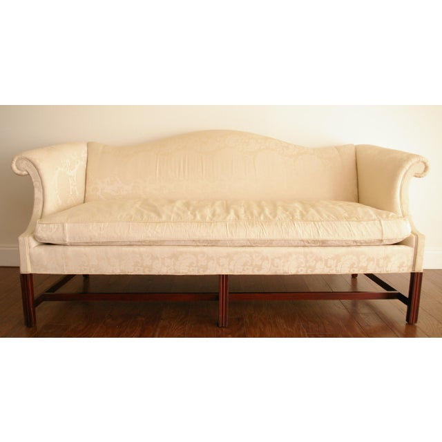 Image of Vintage Hickory Chair Chippendale White Sofa