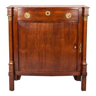 Louis XVI Style Cabinet With Tambour Door