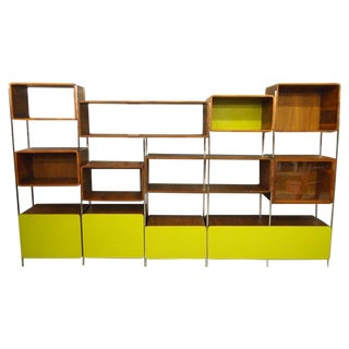Vintage John Tappert Walnut Modern Wall Unit