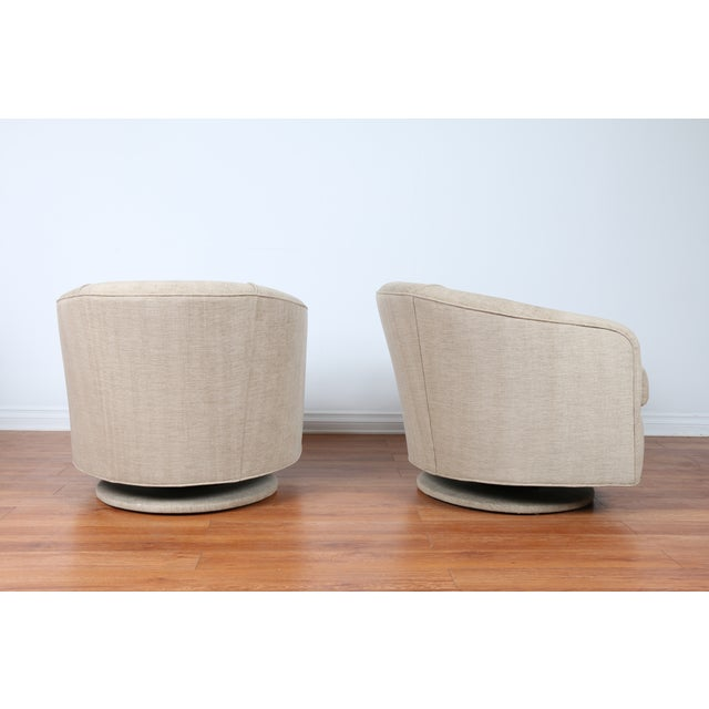 Swivel Hollywood Regency Style Chairs - Pair - Image 6 of 8