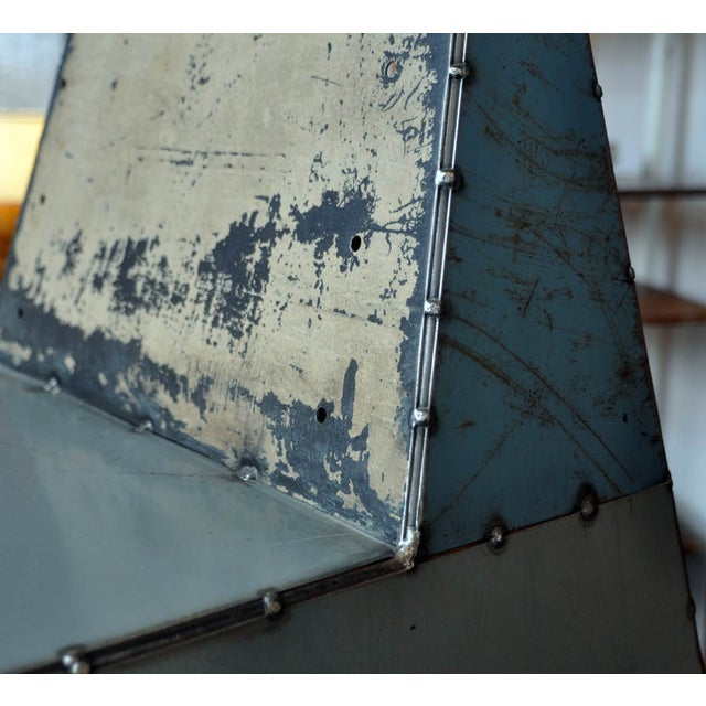 "Blue Metal ""Shoebox"" Chair - Image 5 of 6"