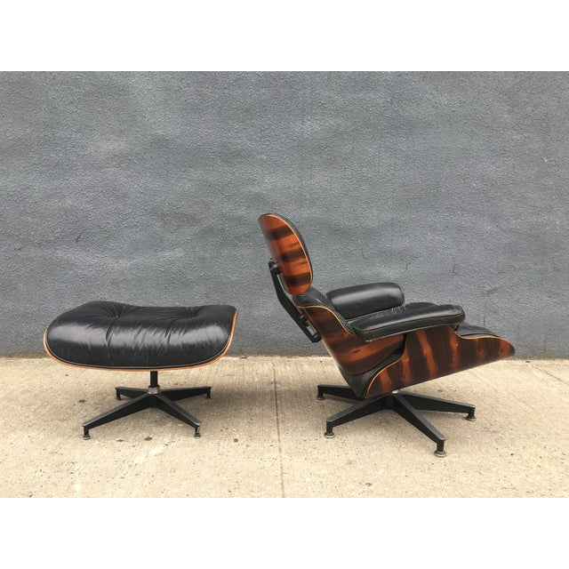 Eames Lounge Chair & Ottoman in Brazilian Rosewood - Image 4 of 10