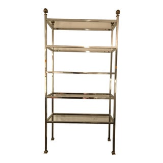 Chrome & Glass Etagere