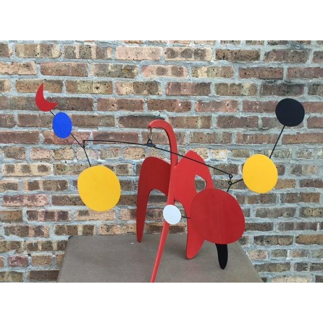 Vintage Calder Style Stabile Mobile Sculpture - Image 10 of 11