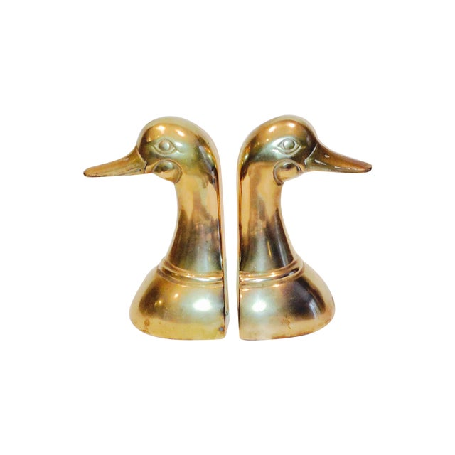 Brass Mallard Duck Bookends - A Pair - Image 1 of 4