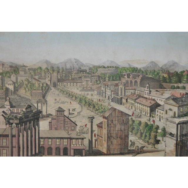 """Antique """"View of Rome"""" Engraving 19th Century - Image 3 of 11"""