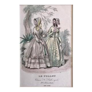 Antique 19th Century Fashion Print