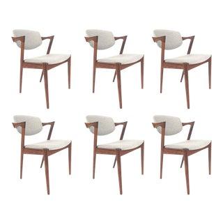 Vintage Kai Kristiansen Danish Rosewood Model 42 Dining Chairs - Set of 6