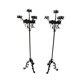 Wrought Iron Gothic Touchier Candle Holders
