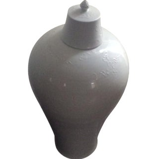White Chinese Plum Vase
