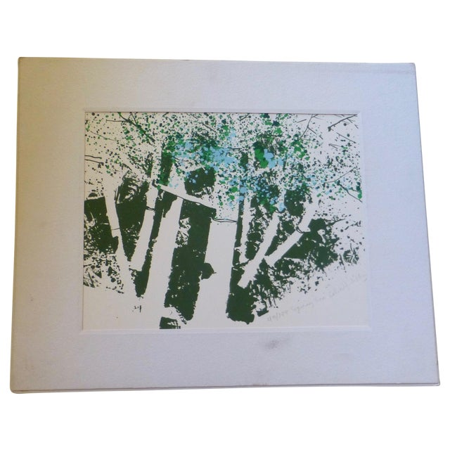 """""""Spring Two"""" Modernist Print by Calvin Libby - Image 1 of 11"""