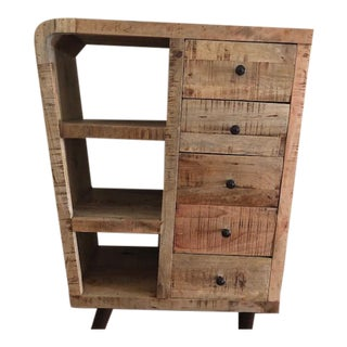 Mango Wood Display Cabinet