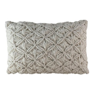 Hand Knotted Wool Lumbar Pillow