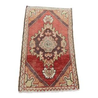 "Vintage Turkish Oushak Rug - 1'7"" x 2'9"""