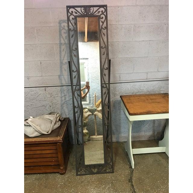 Metal Leaves Design Free Standing Mirror - Image 2 of 6