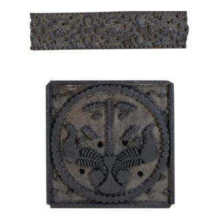 Indian Textile Printing Blocks, 2 Pieces