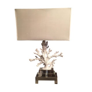 Made Goods Naia Coral Lamp with White Silk Shade