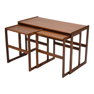 Arne Hovmand-Olsen Set of Teak Nesting Tables by Mogens Koch