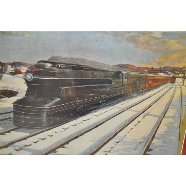 Vintage Pennsylvania Railroad Print - Image 3 of 5