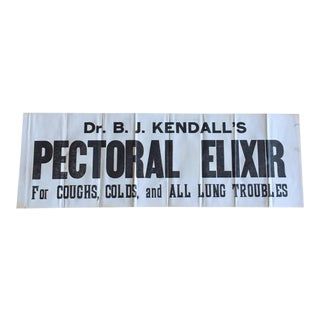 Antique Pectoral Elixir Medical Print Sign