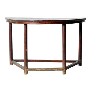 Chinese Demilune Console Table