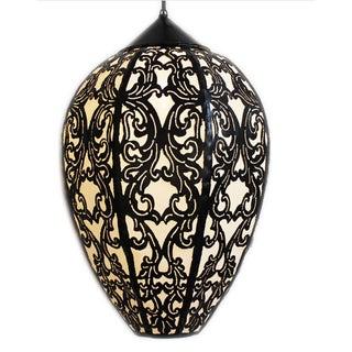Large Metal Work Tulip Lantern